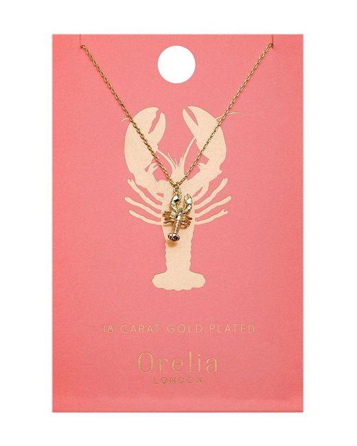 Orelia | Metallic Lobster Ditsy Necklace | Lyst