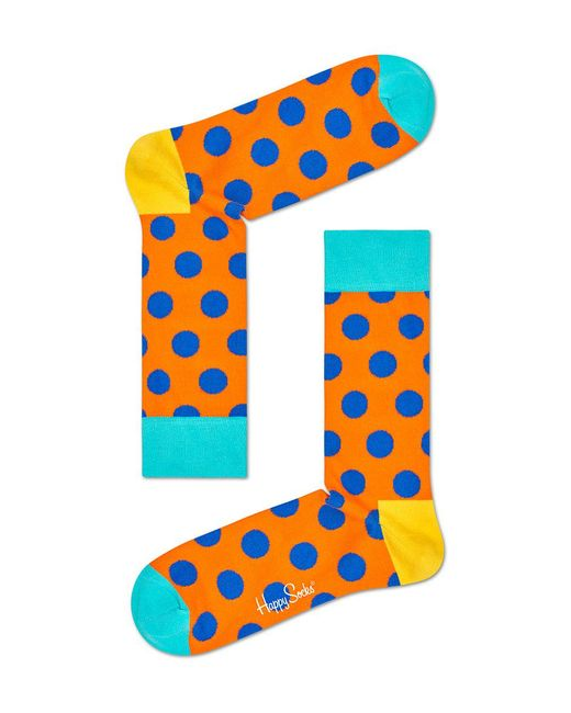 Happy Socks - Blue Big Dot Socks - Lyst