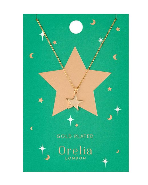 Orelia - Metallic Chunky Star Charm Necklace - Lyst