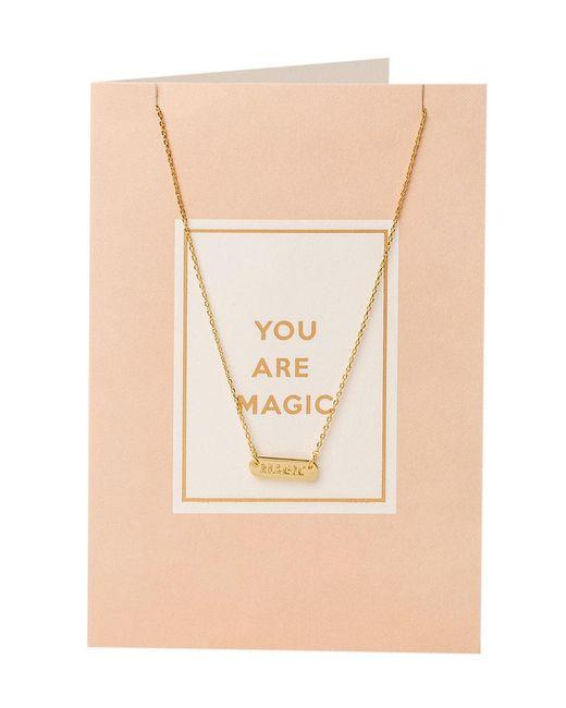 Orelia - Metallic You Are Magic Giftcard - Lyst