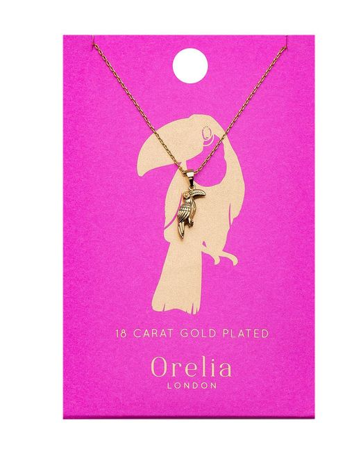 Orelia - Metallic Toucan Ditsy Necklace - Lyst