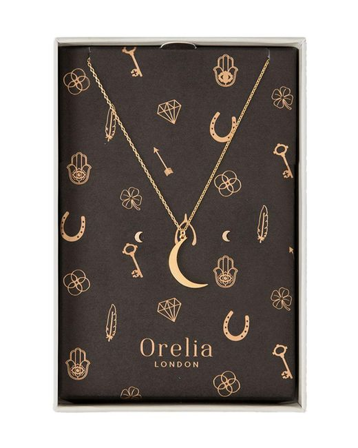 Orelia | Metallic Brushed Moon Giftbox | Lyst