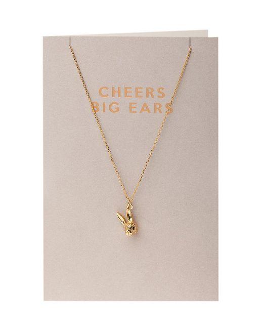 Orelia - Metallic Semi Precious Cheers Big Ears Bunny Giftcard - Lyst