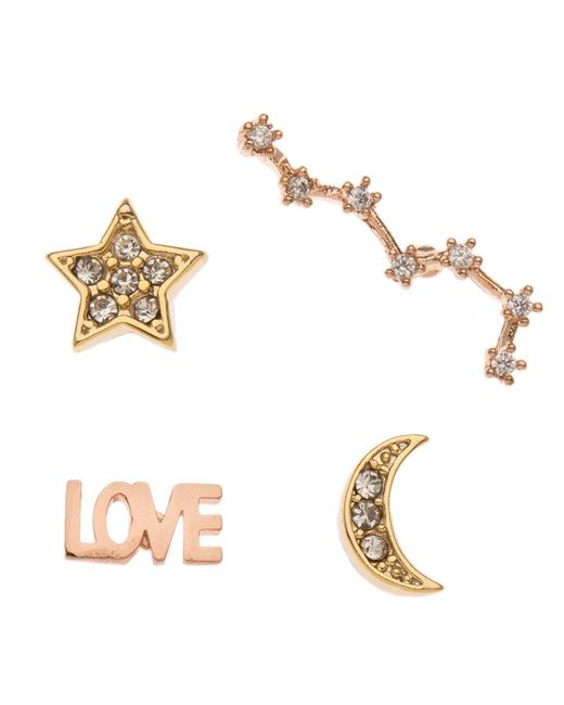 Orelia - Metallic Love Small Mixed Pin Pack - Lyst