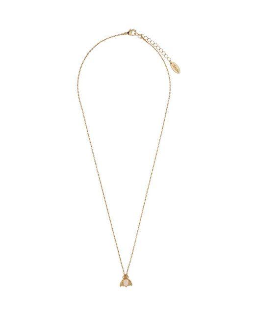 Orelia - Metallic Gem Bug Ditsy Necklace - Lyst