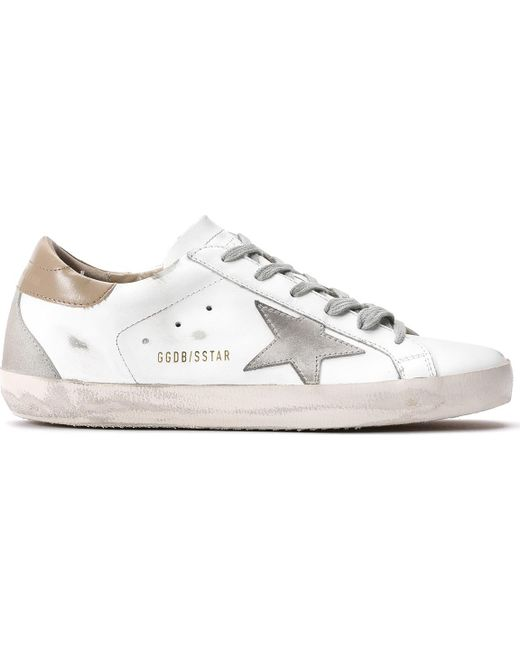 1ab19a0cf436d Golden Goose Deluxe Brand - White Superstar Sneakers for Men - Lyst ...