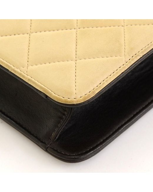 f30378513a9565 ... Chanel - Multicolor Two Tone Quilted Leather Crossbody Pouch Bag - Lyst  ...