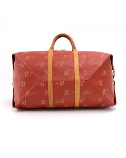 4860f183700c ... Louis Vuitton - Red Coated Canvas Vintage 1995 Lv Cup Duffel Bag for  Men - Lyst ...