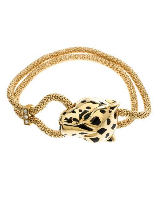 Cartier - Metallic Panthere De Diamond Garnet & Onyx 18k Yellow Gold Bracelet - Lyst