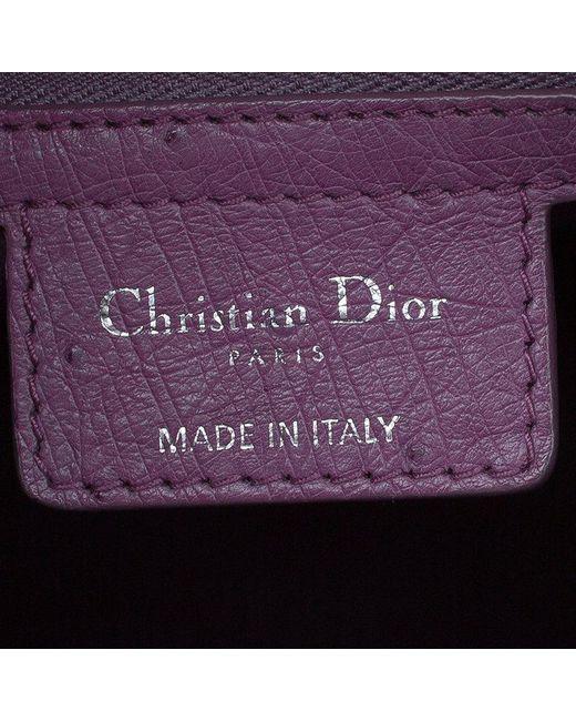 02c99bb8d9a ... Dior - Purple Ostrich Skin Large Lady Tote - Lyst ...