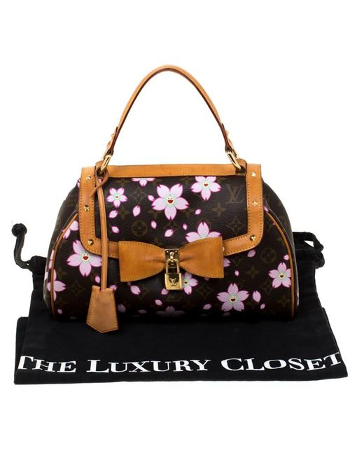 d9e4753c3d8a ... Louis Vuitton - Brown Monogram Canvas Limited Edition Cherry Blossom  Sac Retro Pm Bag - Lyst ...