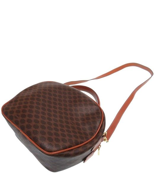 ... Céline - Brown Macadam Pvc And Leather Vintage Shoulder Bag - Lyst ... 87e5404150206