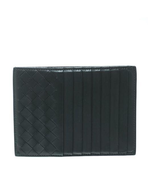 61b324043ae4d Bottega Veneta - Gray Intrecciato Leather Card Holder 8cc for Men - Lyst ...