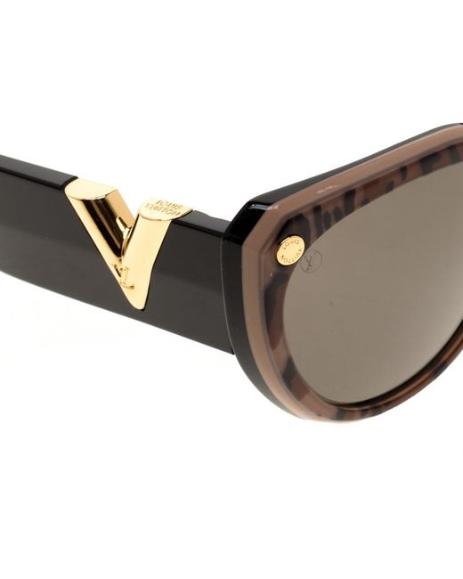 4450e9f8749 ... Louis Vuitton - Black Leopard Print  Z1113w My Fair Lady Sunglasses -  Lyst ...