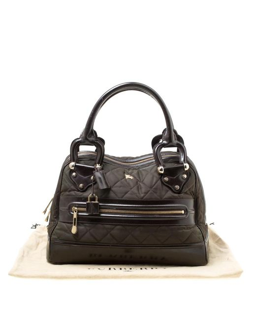 ... Burberry - Green Dark  brown Nylon And Leather Westbury Satchel - Lyst  ... 32a53ca773fea