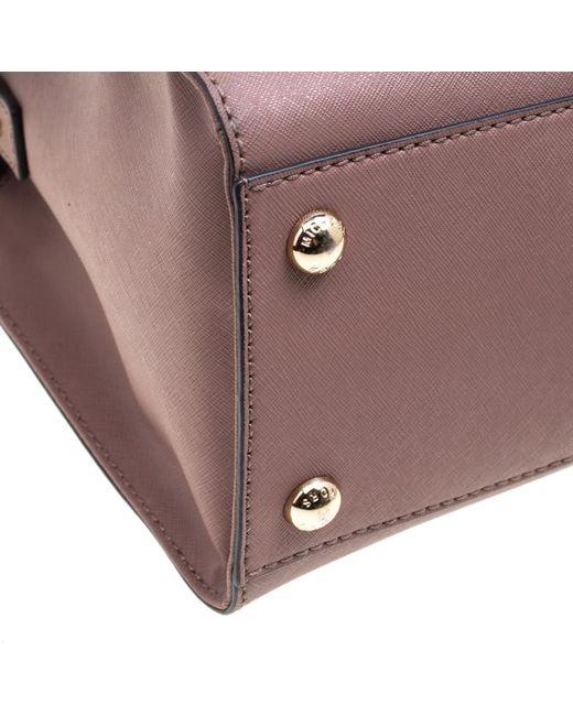 ef5c7a1d4836 ... MICHAEL Michael Kors - Pale Pink Leather East West Hamilton Top Handle  Bag - Lyst ...