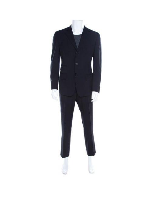 Tom Ford Navy Blue Wool Tailored Suit L for men