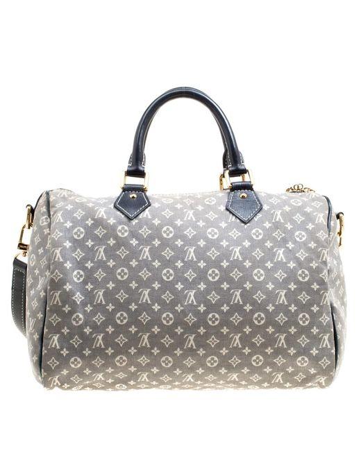 90aee84250da ... Louis Vuitton - Gray Encre Monogram Idylle Speedy Bandouliere 30 Bag -  Lyst ...