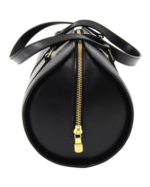 5373bda1a5a Lyst - Louis Vuitton Noir Epi Leather Soufflot Bag in Black - Save 19%