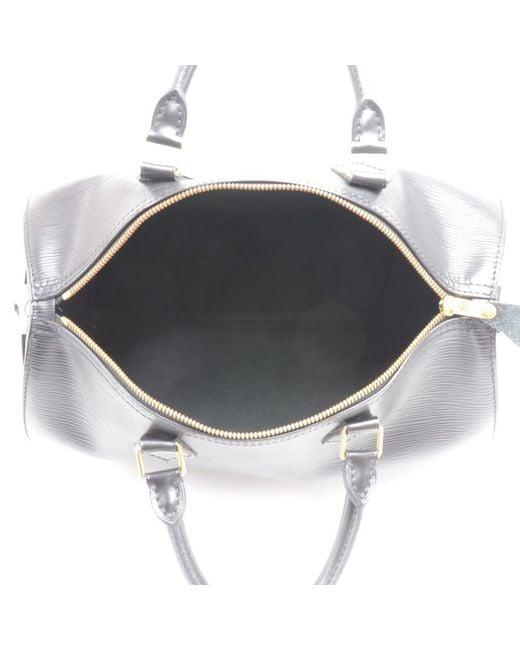 0d22e3cbb900 ... Louis Vuitton - Black Noir Epi Leather Speedy 30 Bag - Lyst ...