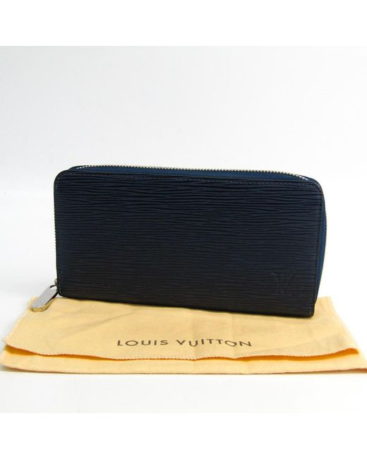 9c51c0844463 ... Louis Vuitton - Blue Indigo Epi Leather Zippy Wallet - Lyst ...