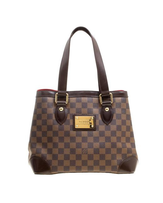 Louis Vuitton - Brown Damier Ebene Canvas And Leather Hampstead Pm Bag - Lyst