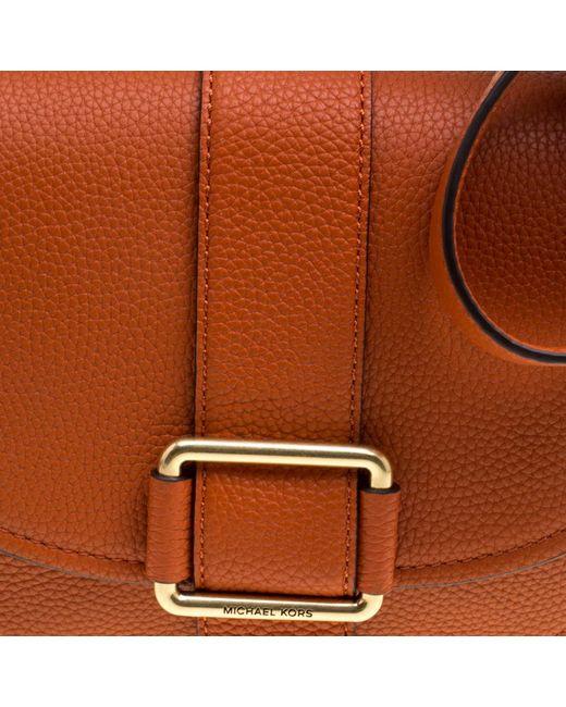 d918418e669 ... MICHAEL Michael Kors - Orange Leather Medium Maxine Saddle Crossbody Bag  - Lyst ...