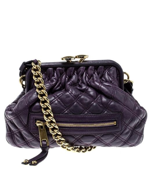 5179193d11e5 Marc Jacobs Purple Leather Mini Stam Shoulder Bag in Purple - Lyst