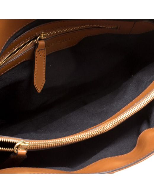 ... Burberry - Brown House Check Canvas And Leather Medium Bridle Lynher  Tote - Lyst ... dc26c9c105