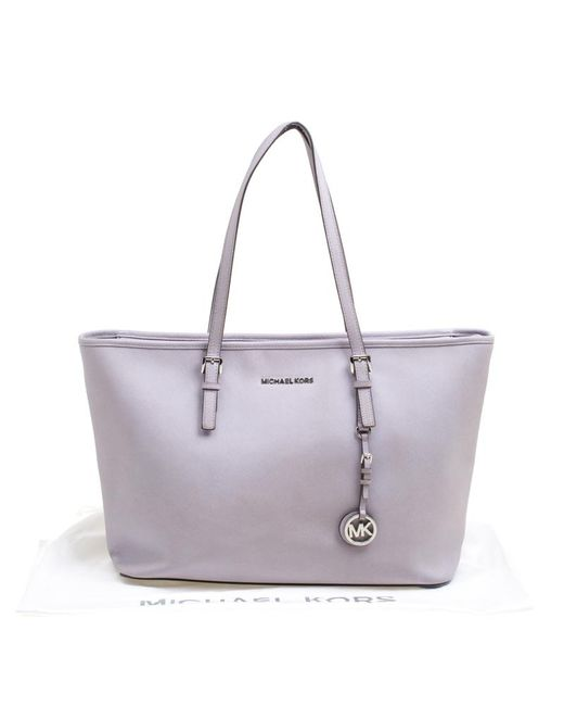 58dca7111d25 ... MICHAEL Michael Kors - Purple Lilac Saffiano Leather Jet Set Tote - Lyst  ...