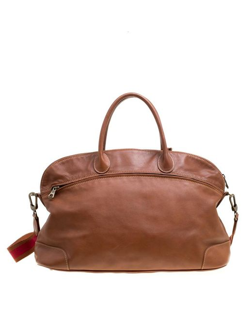 1220cd0c1ab3 ... Longchamp - Brown Leather Au Sultan Top Handle Bag - Lyst ...