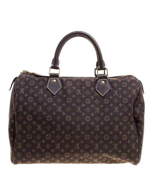 Louis Vuitton - Brown Fusain Monogram Canvas Mini Lin Speedy 30 Bag - Lyst