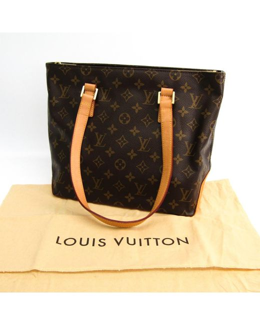 dac928b1fe52 ... Louis Vuitton - Brown Monogram Canvas Cabas Piano Bag - Lyst ...