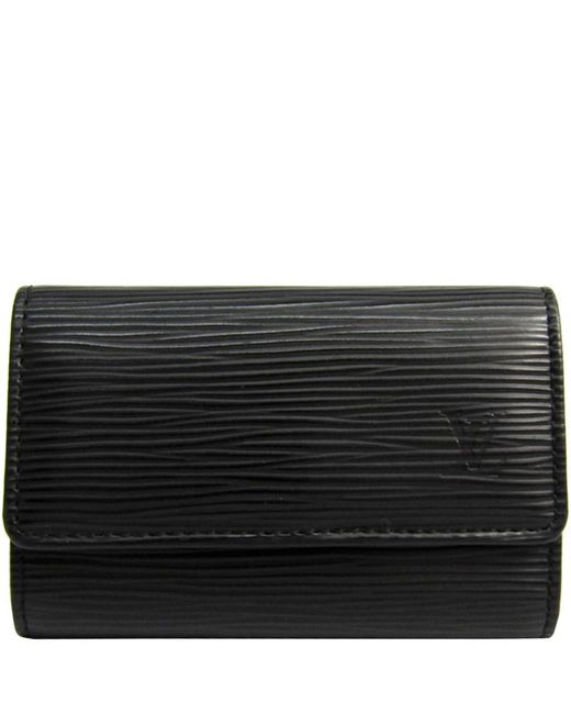 074f4143f367 Louis Vuitton - Black Noir Epi Leather 6 Key Holder - Lyst ...