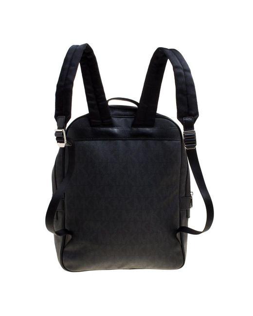 6af5c3bf05d2 ... Michael Kors - Black Coated Canvas Large Jet Backpack for Men - Lyst ...