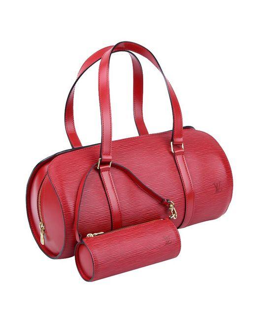 c9643c3f0be ... Louis Vuitton - Red Epi Leather Soufflot Bag W  Accessory Pouch - Lyst  ...