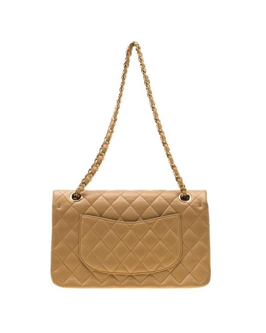 67e1441ed65a19 ... Chanel - Natural Beige Quilted Leather Medium Classic Double Flap Bag -  Lyst ...