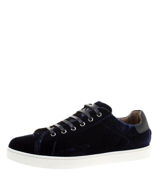 Gianvito Rossi - Blue Velvet Loft Low Top Platfrom Sneakers - Lyst