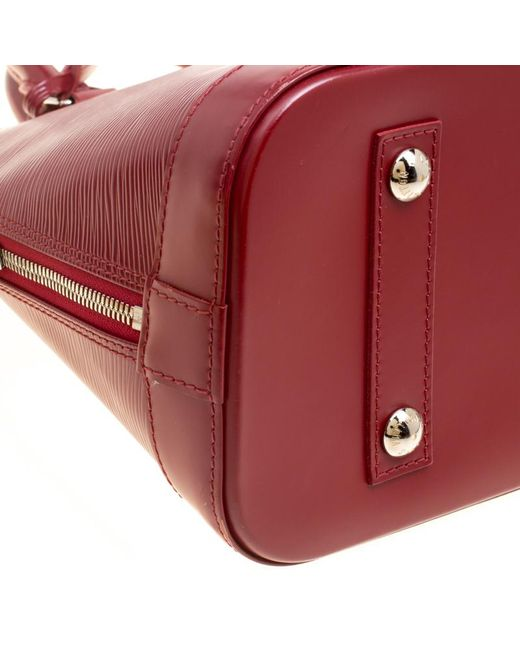 ... Louis Vuitton - Red Rubis Epi Leather Alma Pm Bag - Lyst ... e1a157bb5b