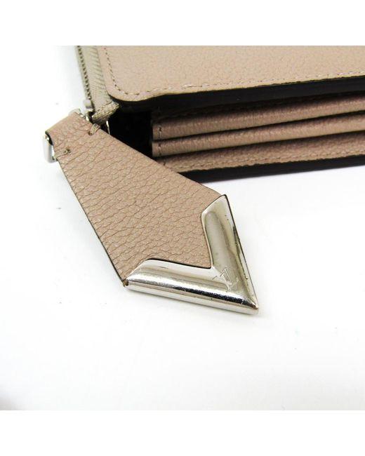02ff68868b63 ... Louis Vuitton - Brown Galet Veau Cachemire Leather Comete Wallet - Lyst  ...