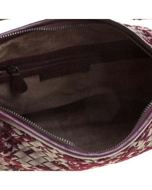 2d59e3027cd8 ... Bottega Veneta - Multicolor Leather Intrecciato Velvet Speckled Hobo -  Lyst ...