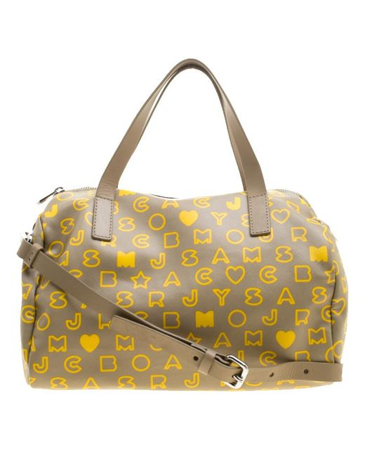 Marc By Marc Jacobs - Natural /yellow Coated Canvas Easy Bowling Bag - Lyst