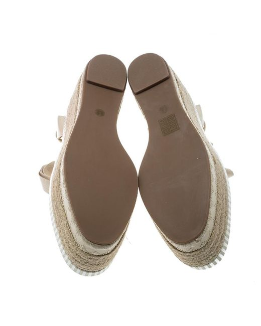 86b3b6262722b ... Tory Burch - Natural Leather Dandy Ankle Wrap Espadrille Wedge Sandals  - Lyst ...