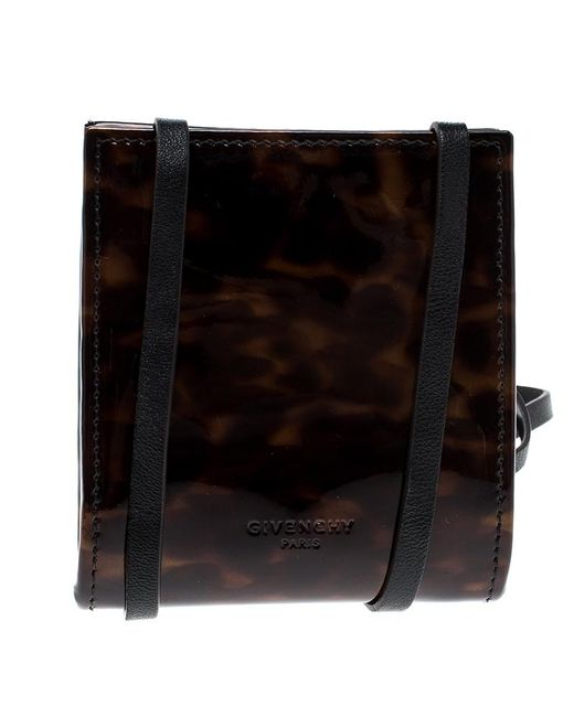9395e5c70 Givenchy - Brown Leopard Print Patent Leather Coin Purse - Lyst ...
