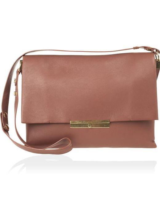 ba079afaee Céline - Brown Calfskin Leather Blade Flap Bag - Lyst ...