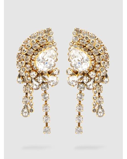 Erickson Beamon | Metallic Crystal Embellished Earrings | Lyst