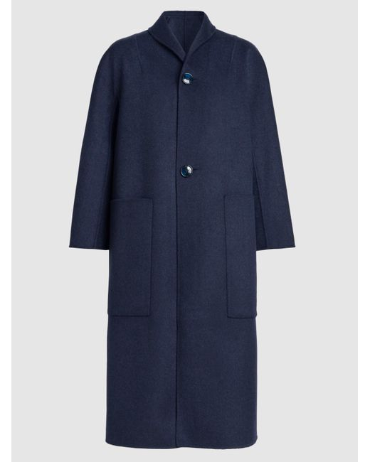Sofie D'Hoore | Blue Cherie Double-faced Reversible Wool Coat | Lyst