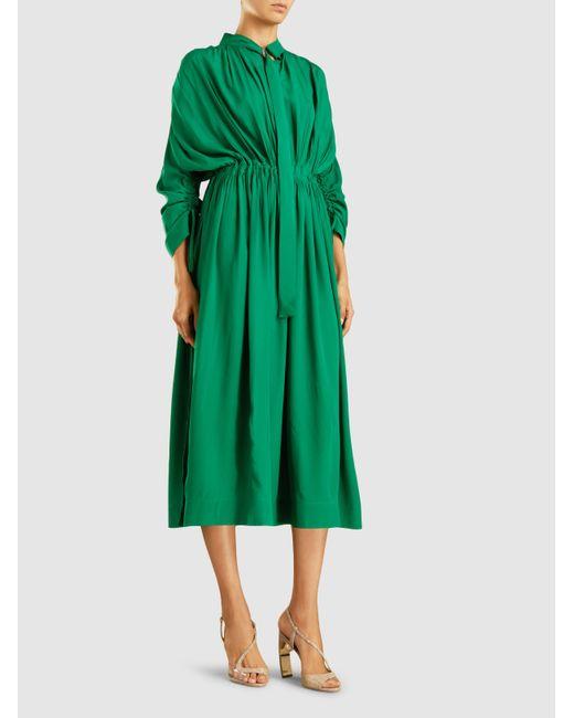 Ruched Crepe Midi Dress Cedric Charlier rH2rTK4gpk