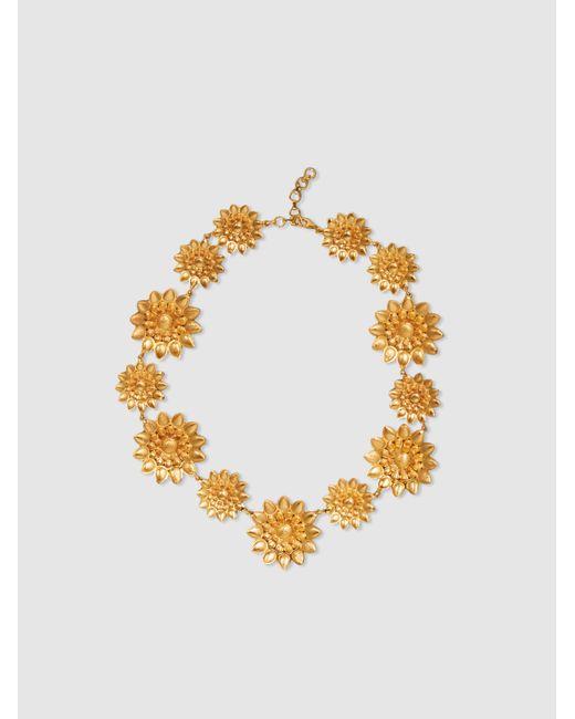 Ileana Makri - Metallic Sunflower Charm Gold-tone Necklace - Lyst