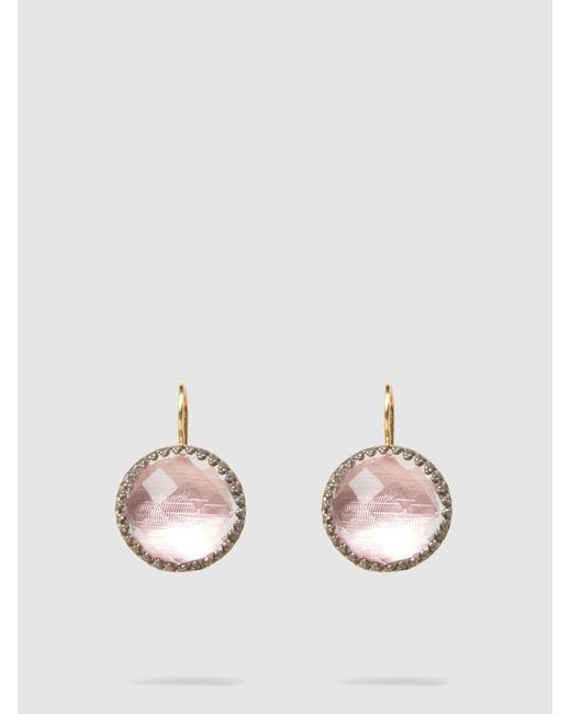Larkspur & Hawk - Multicolor Olivia Black Rhodium White Quartz Earrings - Lyst